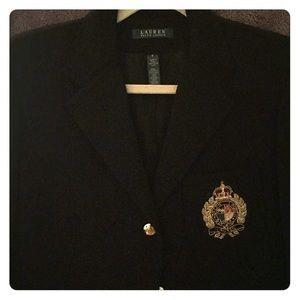 Ralph Lauren 3 button created blazer